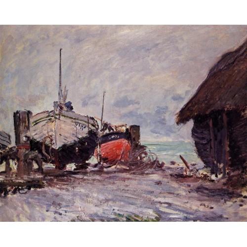 Fishing Boats at Etretat