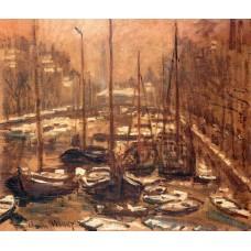Geldersekade of amsterdam invierno 1874