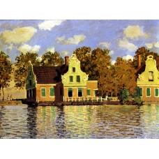 Houses on the zaan river at zaandam 2