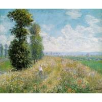 Meadow with Poplars