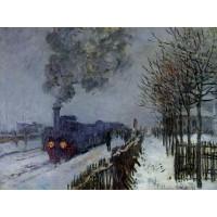 Train in the Snow the Locomotive