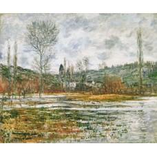 Vetheuil prairie inondee
