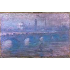 Waterloo bridge misty morning 2