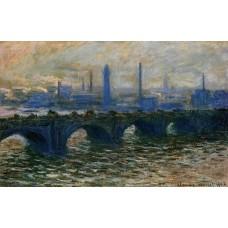 Waterloo Bridge Misty Morning