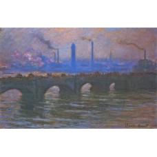 Waterloo bridge overcast weather 3