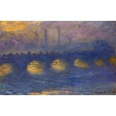 Waterloo bridge overcast weather 4
