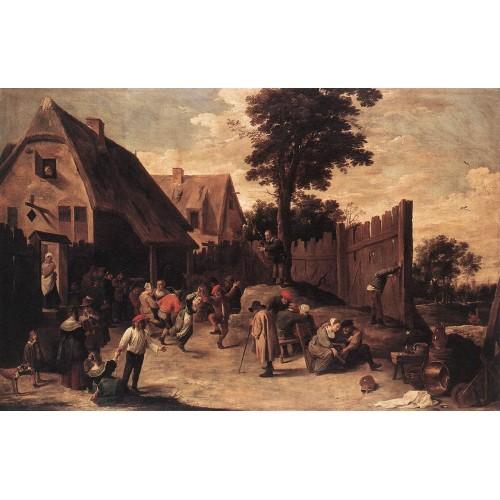Peasants Dancing outside an Inn