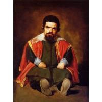 A Dwarf Sitting on the Floor (Sebastian de Morra)