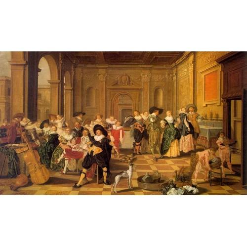Banquet Scene in a Renaissance Hall