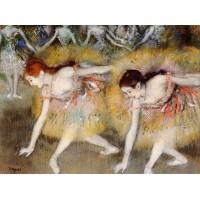 Dancers Bending Down (The Ballerinas)
