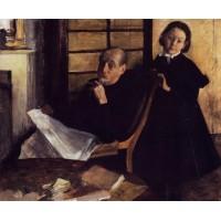 Henri De Gas and His Neice Lucie Degas