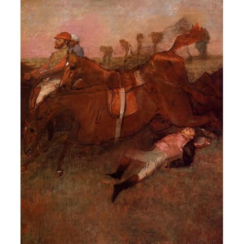 Scene from the Steeplechase the Fallen Jockey