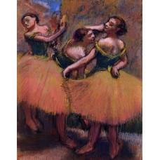 Three Dancers Green Blouses