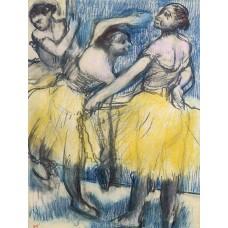 Three Dancers in Yellow Skirts
