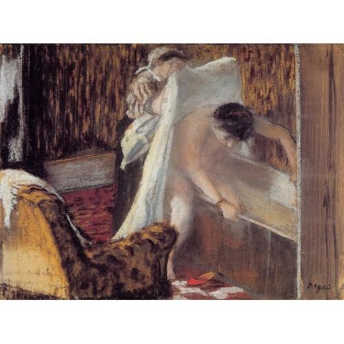 Woman Leaving Her Bath 1