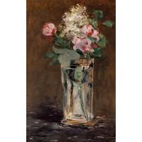 Flowers in a Crystal Vase 1