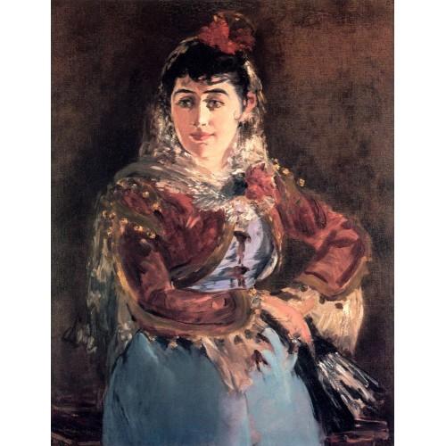 Portrait of Emilie Ambre in the role of Carmen