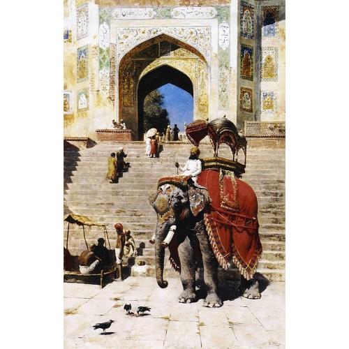 Royal Elephant at the Gateway to the Jami Masjid Mathura