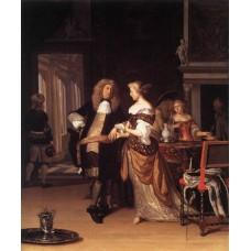 Elegant Couple in an Interior