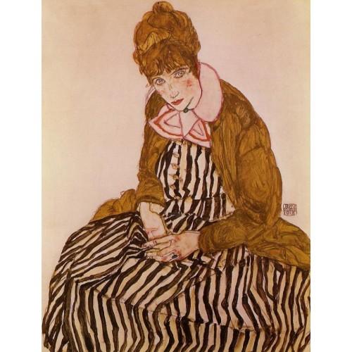 Edith Schiele Seated