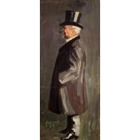 Portrait of Leopold Czihaczek in Profile Facing Left