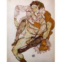 Seated Couple (Egon and Edith Schiele)