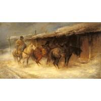 Wallachian Horsemen in the Snow