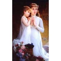 Two Girls Praying