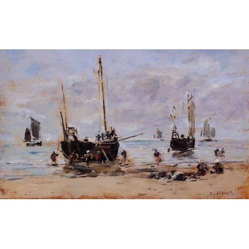 Berck Fishermen at Low Tide