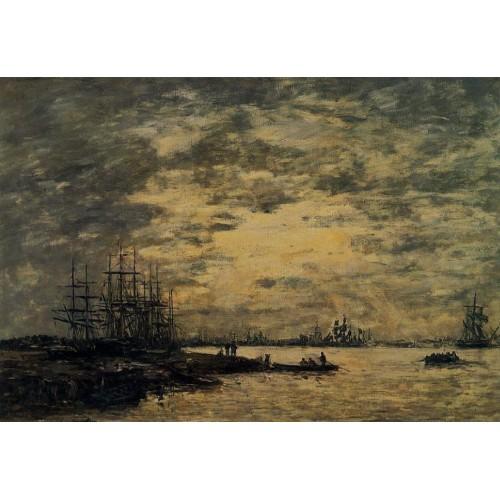Bordeaux Boats on the Garonne