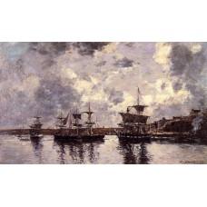 Camaret Three Masters Anchored in the Harbor