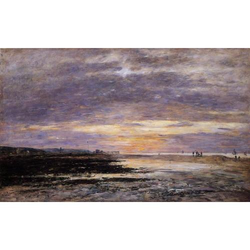 Deauville Sunset on the Beach