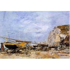 Etretat Boats Stranded on the Beach