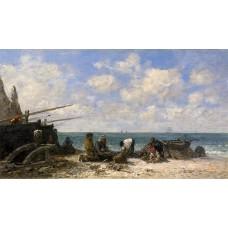 Etretat Fishermen on the Beach