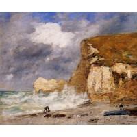Etretat The Amont Cliff in November
