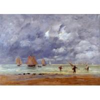 Fishermen and Sailboats near Trouville
