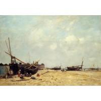Fishing Boats Aground and at Sea