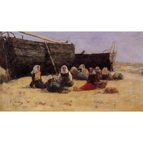 Fishwomen Seated on the Beach at Berck