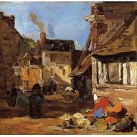 Honfleur the Saint Catherine Market Place