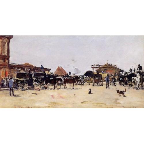La Place de la Gare Deauville