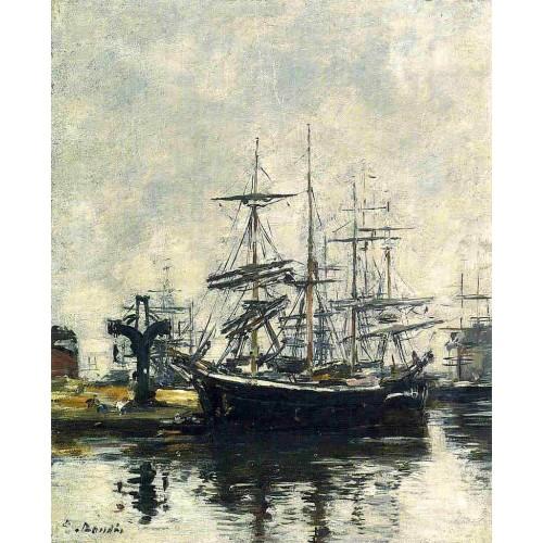 Le Havre Sailboats at Dock Basin de la Barre