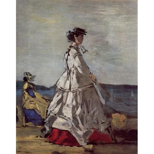 Princess Metternich on the Beach