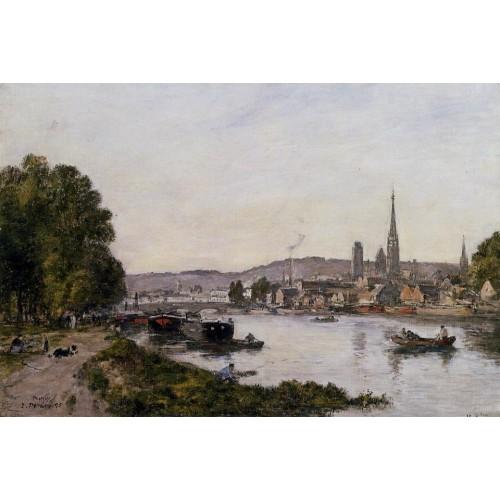 Rouen View over the River Seine