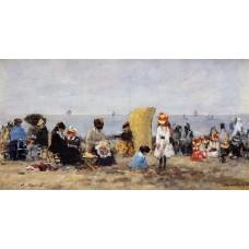 Trouville Beach Scene 15