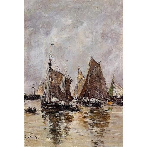Trouville Sardine Boats Getting Underway