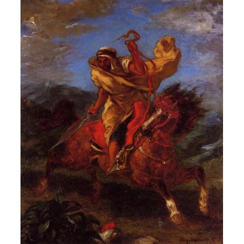 An Arab Horseman at the Gallop