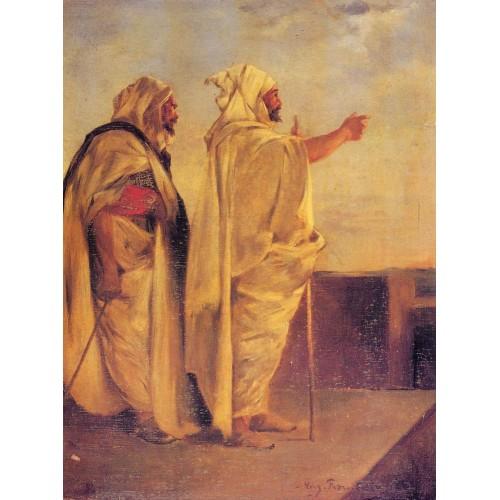 Two Arabs on a Terrace