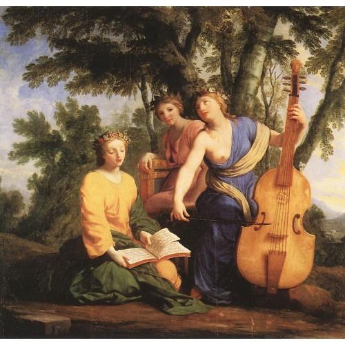 The Muses Melpomene Erato and Polymnia
