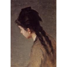 Portrait of Jeanne Gonzales in Profile