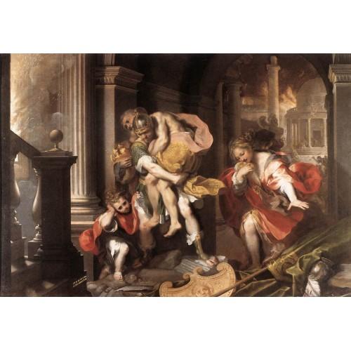 Aeneas' Flight from Troy